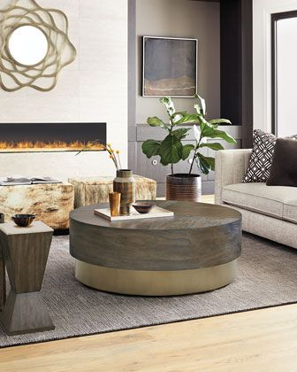 Bernhardt Profile Round Coffee Table With Images Coffee Table