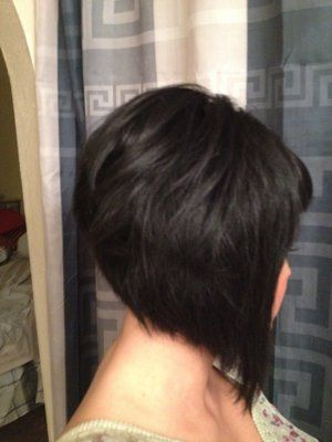 A-line bob with asymmetrical bangs...wish i could find more pics of this cut
