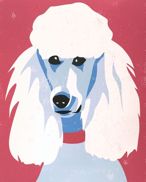 Modern Pet Portraits For Your Home Or Office Standard Poodle