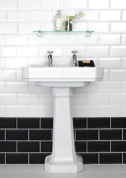 The Black And White Magic Design Color Black White Pinterest - Black-and-white-bathroom-york-by-novabell