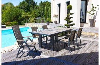 Ensemble table + 6 chaises +2 fauteuils multipositions | Salle à ...