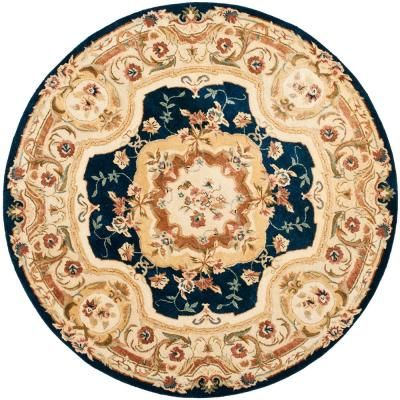 Artistic Weavers Alicia Spa Blue 8 Ft X 8 Ft Round Area Rug