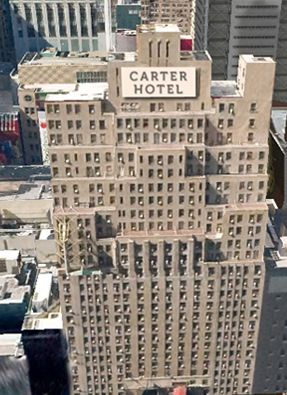 Hotel Carter in New York City, New York. This is four on the top ten of America's dirtiest hotels, voted in 2010.