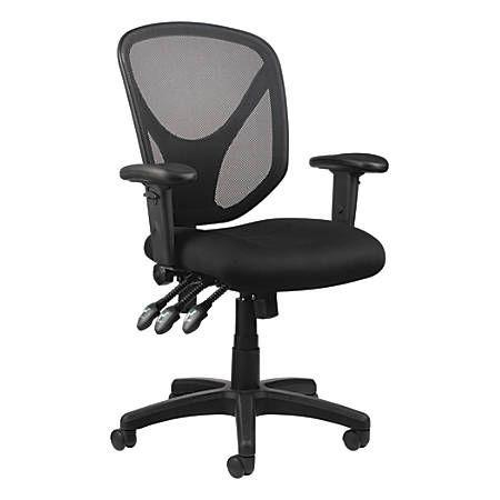 Realspace Mftc 200 Mesh Multifunction Ergonomic Mid Back Task Chair Black Item 493876 Ergonomic Chair Ergonomic Office Chair Restaurant Chairs For Sale