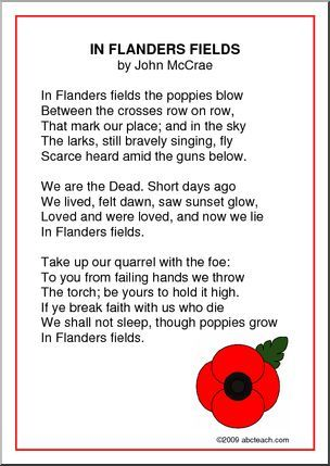 Poster In Flanders Fields Abcteach Flanders Fields Poem Flanders Field Flanders