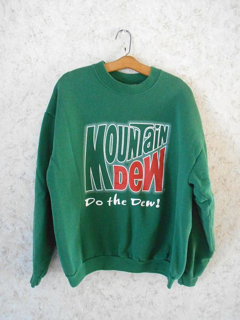 dde97870b Vintage Mountain Dew Green Crewneck Sweatshirt Pullover Do The