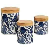 Blue//Gold 4 Piece American Atelier 6614-CAN Canister Set