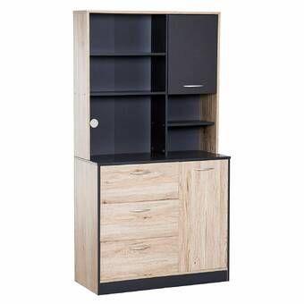 Hazelwood Home Metal 61 Kitchen Pantry Reviews Wayfair Kitchen Pantry Storage Cabinet Kitchen Buffet Cabinet Kitchen Pantry Storage
