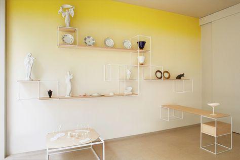 Degradado de pared en amarillo • Yellow gradient wall