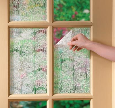 Lace Window Film With Images Lace Window Diy Window