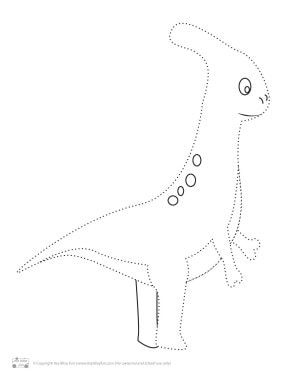 Dinosaur Tracing Coloring Pages Free Printable Coloring Pages