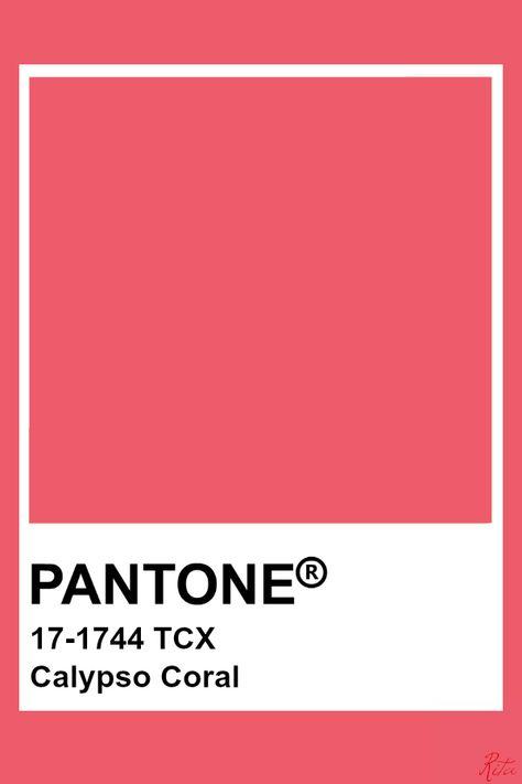 Pantone Calypso Coral