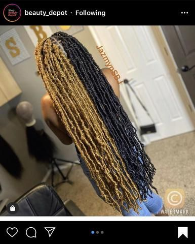 Braids Hairstyles Pictures, Faux Locs Hairstyles, Black Girl Braided Hairstyles, Black Girl Braids, Baddie Hairstyles, Braids For Black Hair, Girls Braids, Hair Pictures, Weave Braid Hairstyles