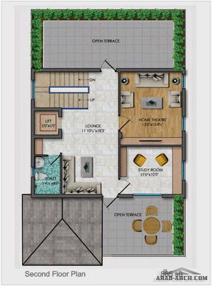 تصميم رائع فيلا 3 ادوار Floor Plans Design Architecture Design