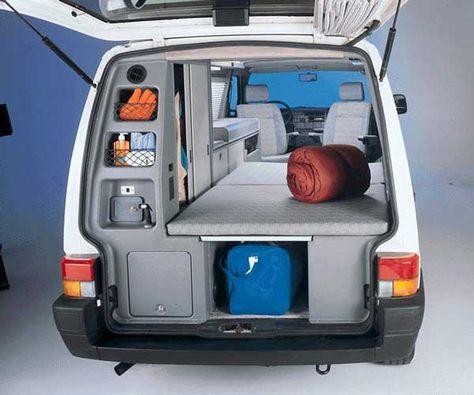 Image detail for -The interior of a 2002 VW Eurovan Camper - rear view