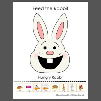 Feed The Rabbit Spring Teaching Ideas Spring Theme Picture Cards
