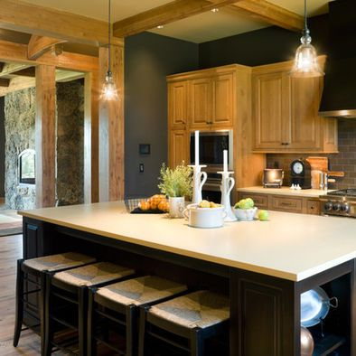 Kitchen Design Pictures Remodel Decor And Ideas Page 195 Honey Oak Cabinets Rustic Kitchen Kitchen Wall Colors