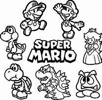 Resultat D Images Pour Coloriage Mario Super Mario Coloring