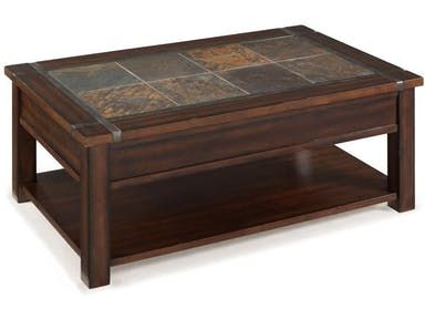 The Vibrant Slate Inlay Of The Roanoke Occasional Table Collection Framed In Wood And Slate Top Coffee Table Rectangle Cocktail Table Coffee Table With Casters
