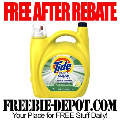 Hot Free After Rebate 138 Oz Tide Laundry