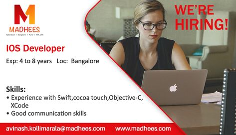 Professionals required IOS Developer with 4 to 8 years experience - ios developer resume