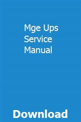 Mge Ups Service Manual Download Pdf Manual Ups Service Cars Brand