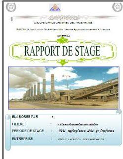 Exemple De Rapport De Stage Gestion De Stock