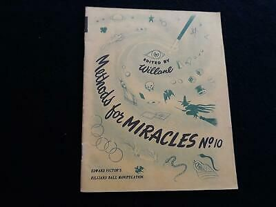 Details About Willanes Methods For Miracles Booklet No 10 Rare 1950 S Magic Book Lot 7776 In 2020 Magic Book Booklet Miracles