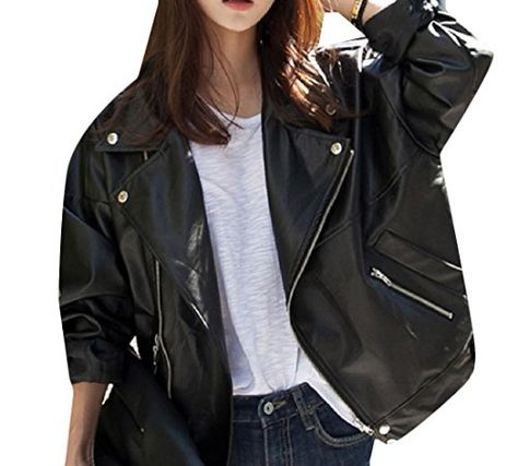 XTX Mens Slim Fit Casual Zip Up Biker Pu Faux Leather Jacket Coat Outwear Red S