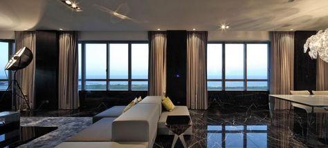Architektur Modernes Apartment Wohnzimmer Beleuchtungsideen Mit
