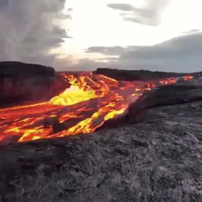 Huge lava flow - #funny #funnymemes #funnypictures #funnyquotes #funnyanimals #jokes #funnytexts #gif