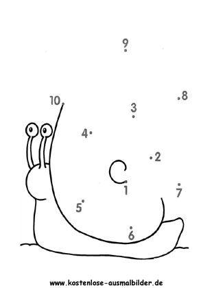 Zahlen Verbinden Zahlenbild 10