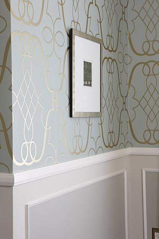 sarah richardson sarah 101 dining room painted panel wallpaper | Dining  Rooms | Pinterest | Sarah