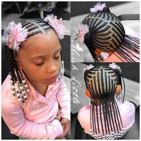Instagram Photo By Hairbyminklittle Kid Braid Styles Little Girl Braids Braids For Kids