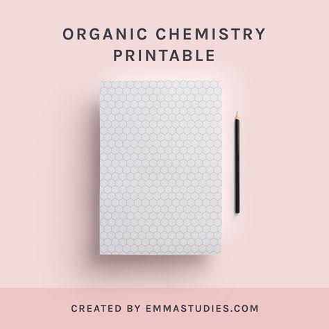 Organic Chemistry Benzene Ring Hexagons Printable Paper Organic Chemistry Study Chemistry Chemistry Paper