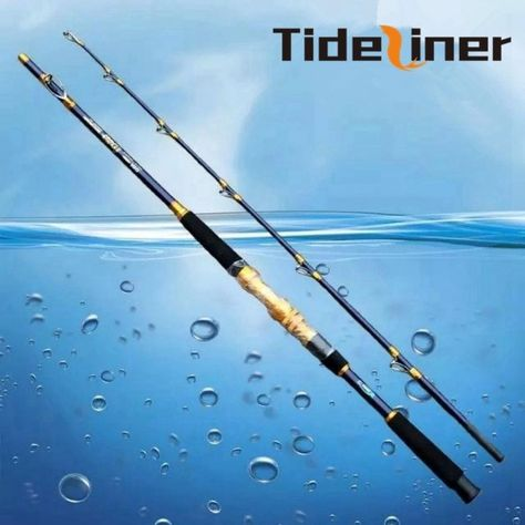 1.65 m 2 Sections Trolling Jig Fishing Rod Big Game 50-100lb Heave Strong
