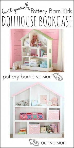 DIY Pottery Barn Kids Dollhouse Bookcase