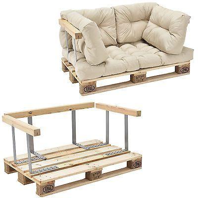 en.casa Armrest for Euro Palett Couch