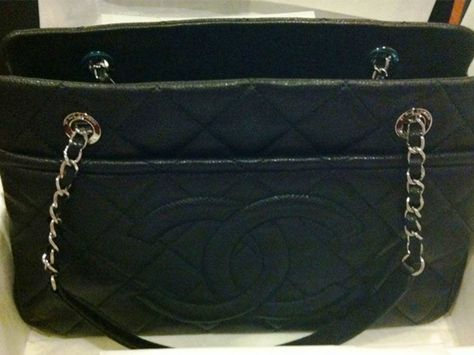 Chanel Black Timeless CC Soft Medium Shopper Tote Bag