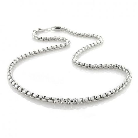 sterling silver chains for men | Men's Sterling Silver Necklace Chains (3)