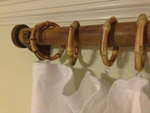 Bamboo Curtain Rod And Rings Bamboo Curtains Designer Shower