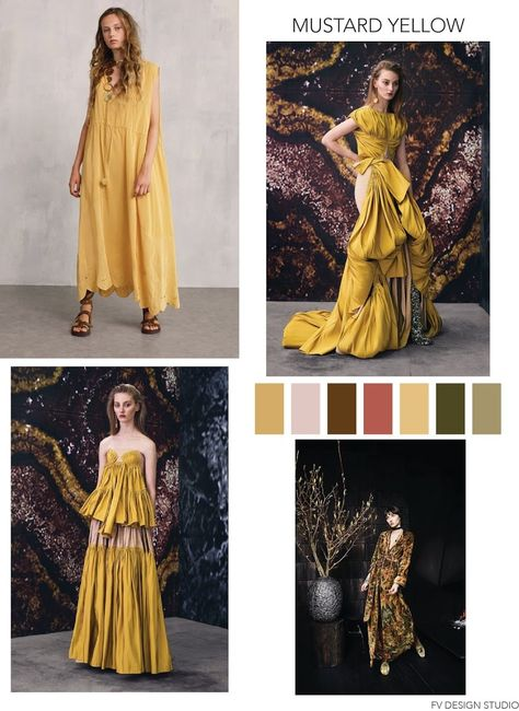 MUSTARD YELLOW - SS 2019 SOURCES:  See by Chloe, Maticevski, Restless Sleeper - SS 2018