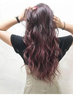 ピンクバイオレットのグラデーションカラー Sayaka ヘアスタイル ヘアスタイリング 髪 色