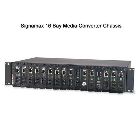 Signamax 16 Bay Rack Mount Media Converter Chassis Accommodates Up To 16 Media Converters In A Standard 2u Rack Space Encl Converter Network Rack Fiber Optic