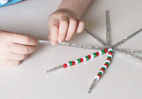 Pony Bead Christmas Ornaments