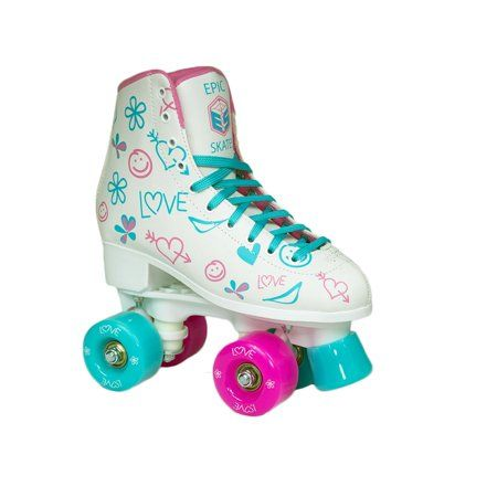Cal 7 Roller Skates Indoor Outdoor Graphic Skating Faux Leather Boot PVC Purple