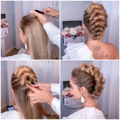 All hairstyles are pretty hairstyles, especially these ? By: @lalasupdos