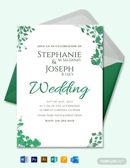 Fall Wedding Flower Invitation Card Template Word Doc Psd Apple Mac Pages Illustrator Publisher Outlook Flower Invitation Card Flower Invitation Wedding Invitation Card Template