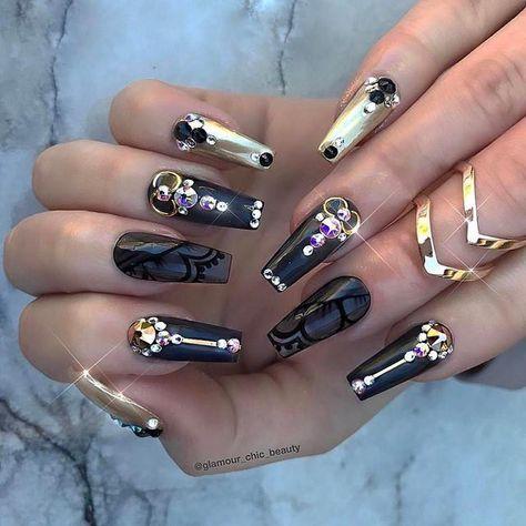 The Best Fashionable Ideas Black Nail Art Designs 2018