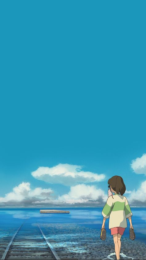 """I think it's about time to start a new textless wallpaper dump for my """"Spirited Away"""" theme."""
